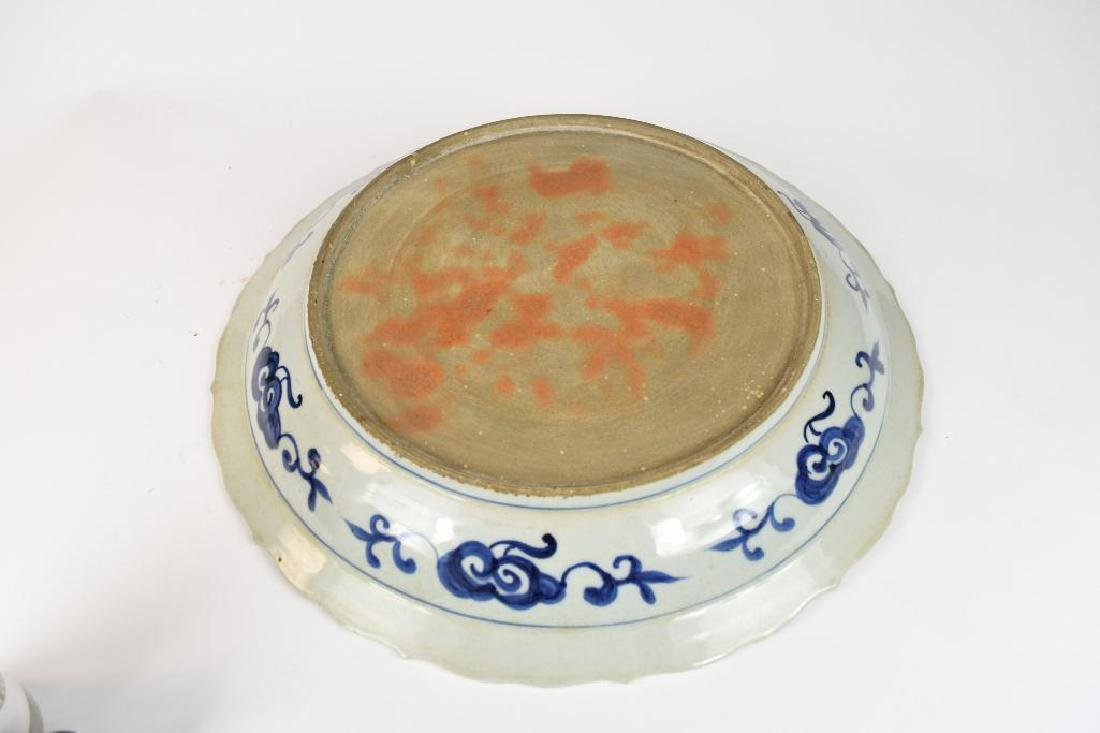 Chinese Blue & White Crane Charger - 7