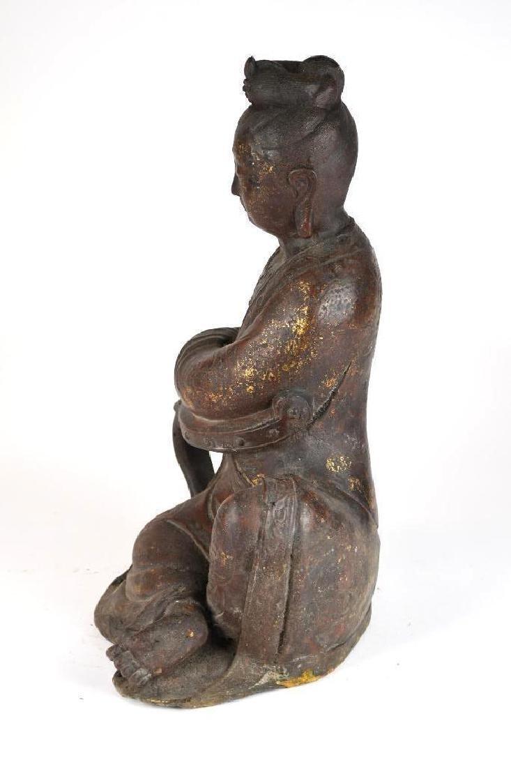 Chinese Bronze Guan Yin - 4