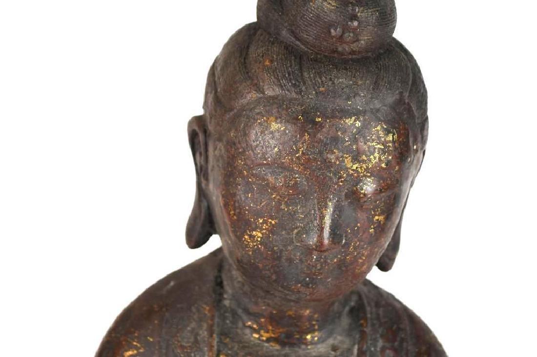 Chinese Bronze Guan Yin - 5