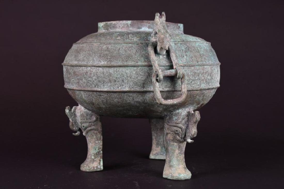 Chinese Bronze Tripod censer - 2