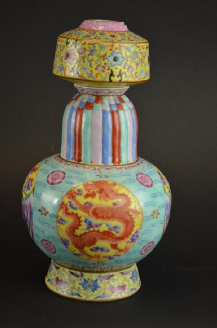 Chinese Wucai Glaze Porcelain Vase - 10