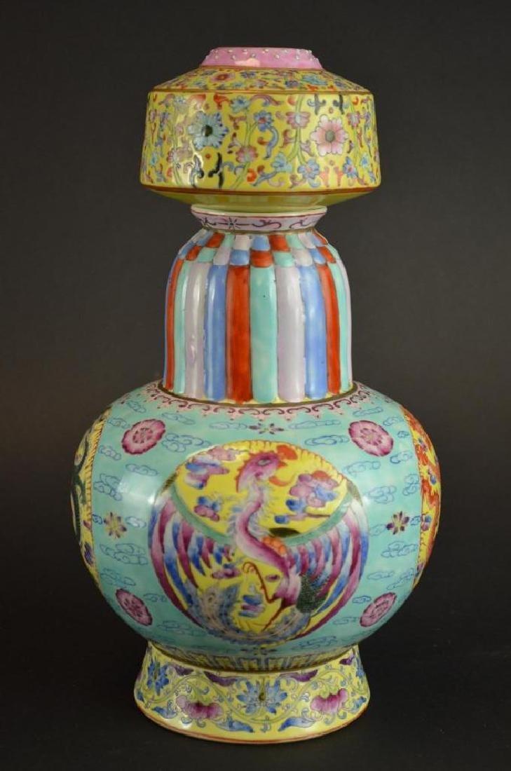 Chinese Wucai Glaze Porcelain Vase