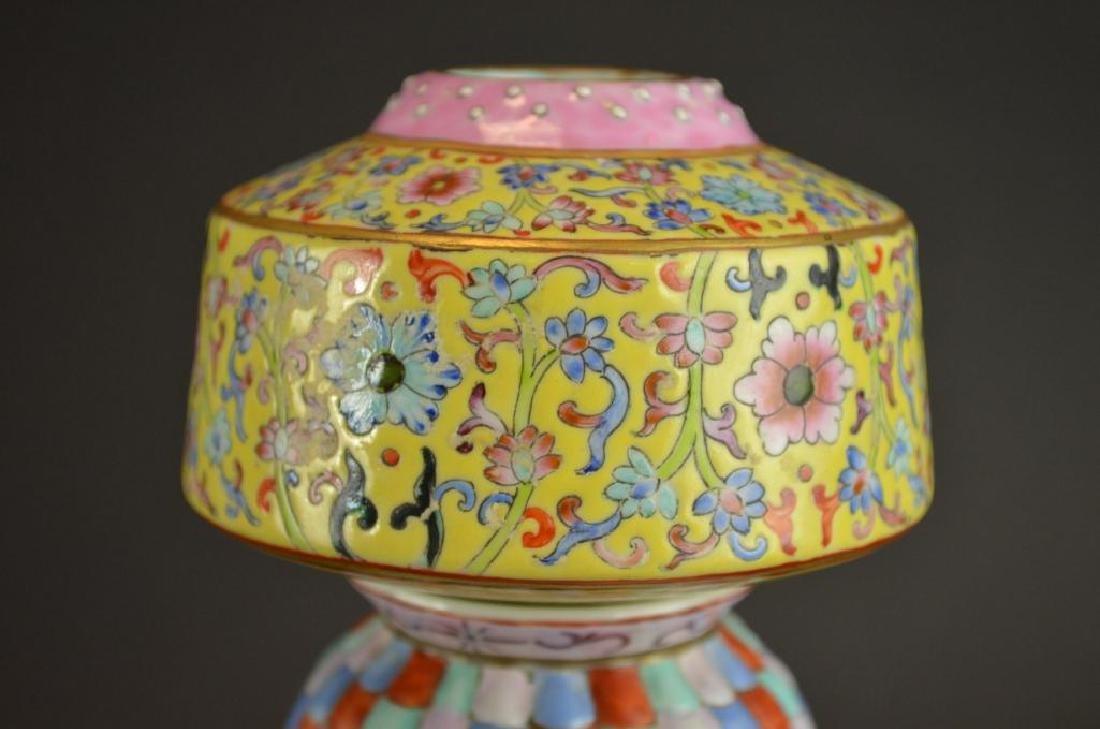 Chinese Wucai Glaze Porcelain Vase - 2