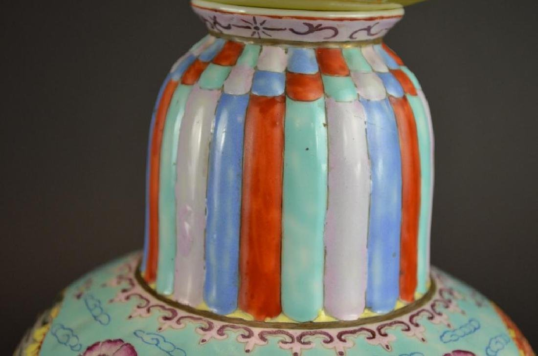 Chinese Wucai Glaze Porcelain Vase - 3