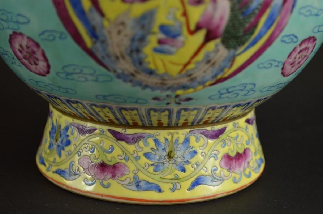Chinese Wucai Glaze Porcelain Vase - 5
