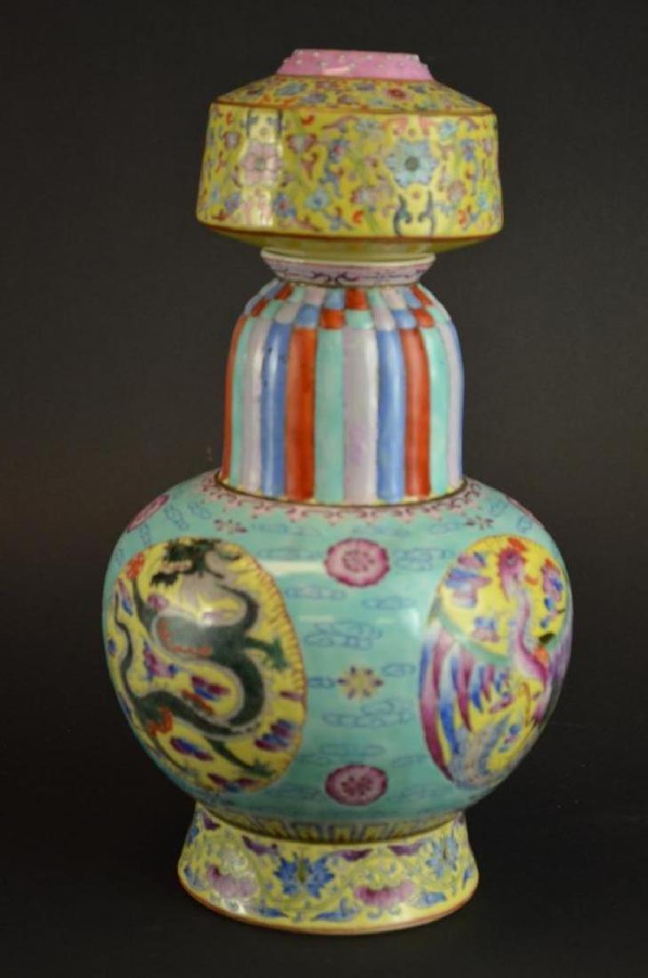 Chinese Wucai Glaze Porcelain Vase - 7