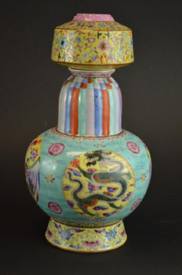 Chinese Wucai Glaze Porcelain Vase - 8