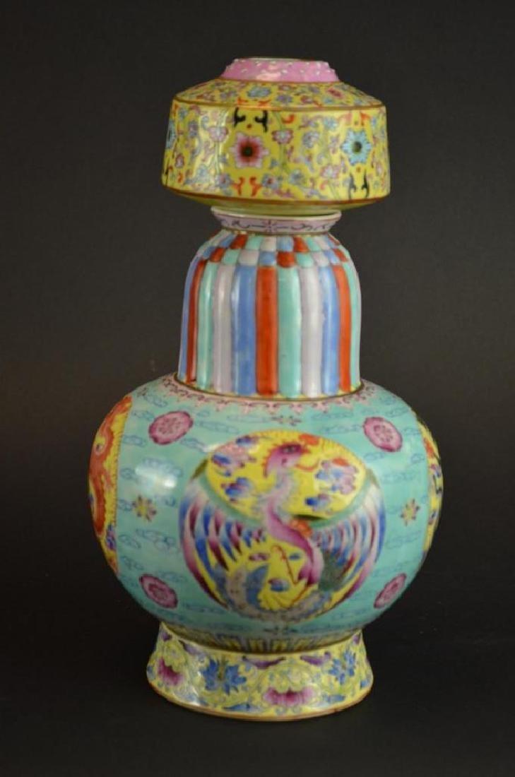 Chinese Wucai Glaze Porcelain Vase - 9