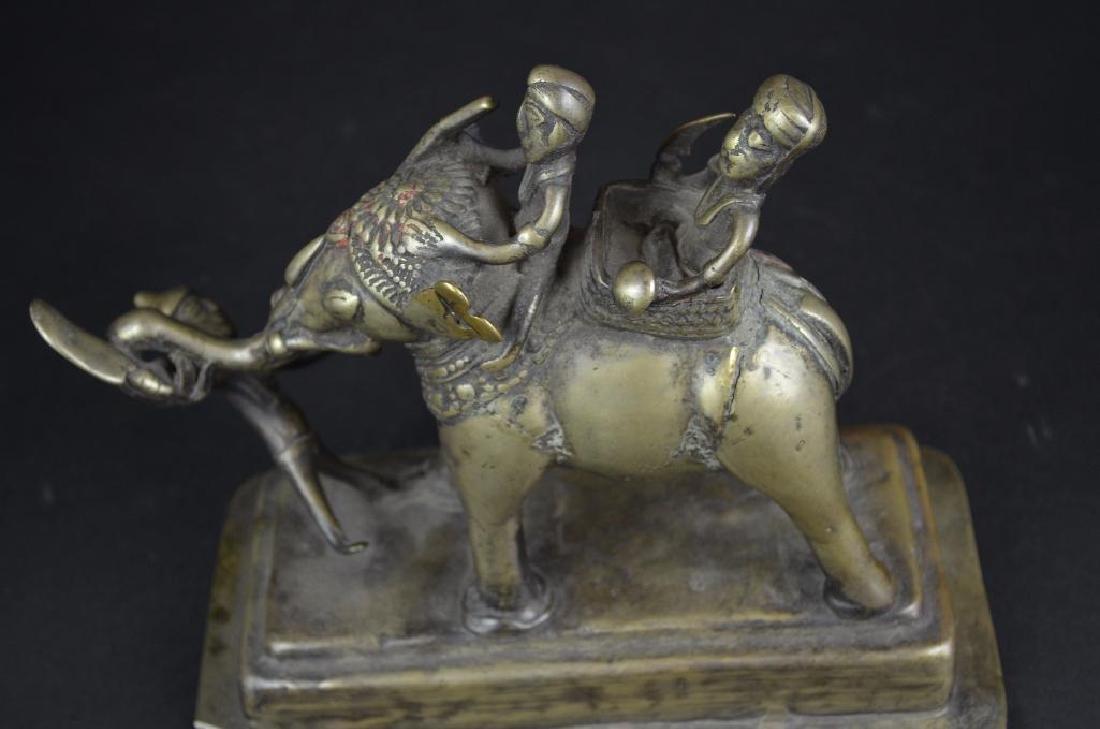 Tibetan Bronze Elephant Statue - 5