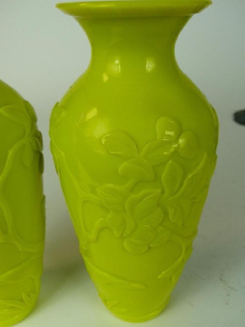 Pair of Chinese Yellow Vases - 3