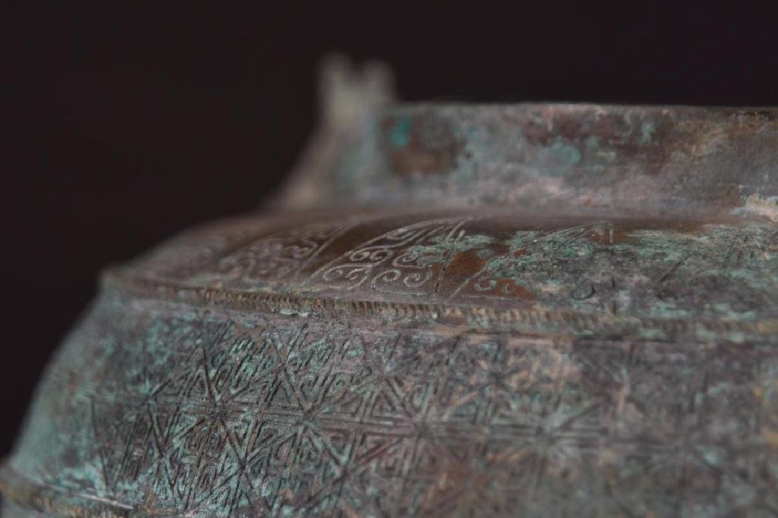 Chinese Bronze Tripod censer - 5