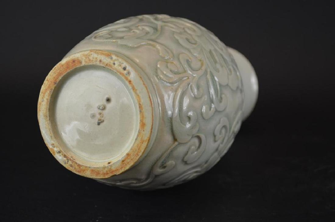 Antique Chinese  Celadon Glaze  Porcelain Vase - 5