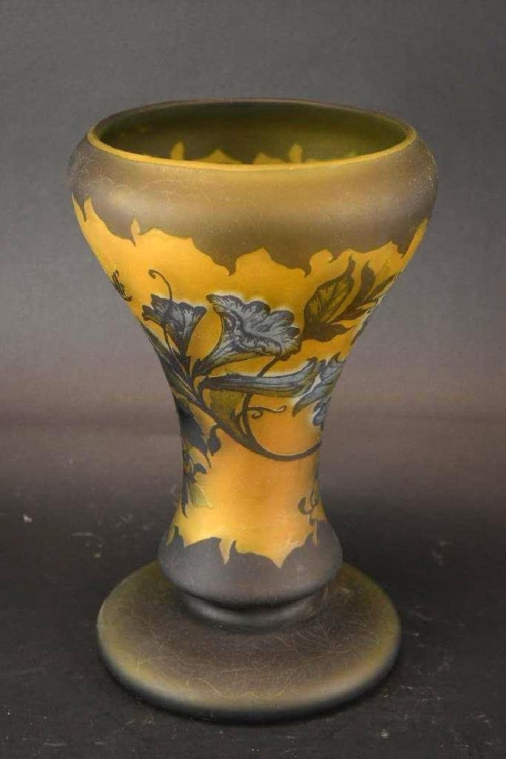 Art Glass Cameo Vase - 2