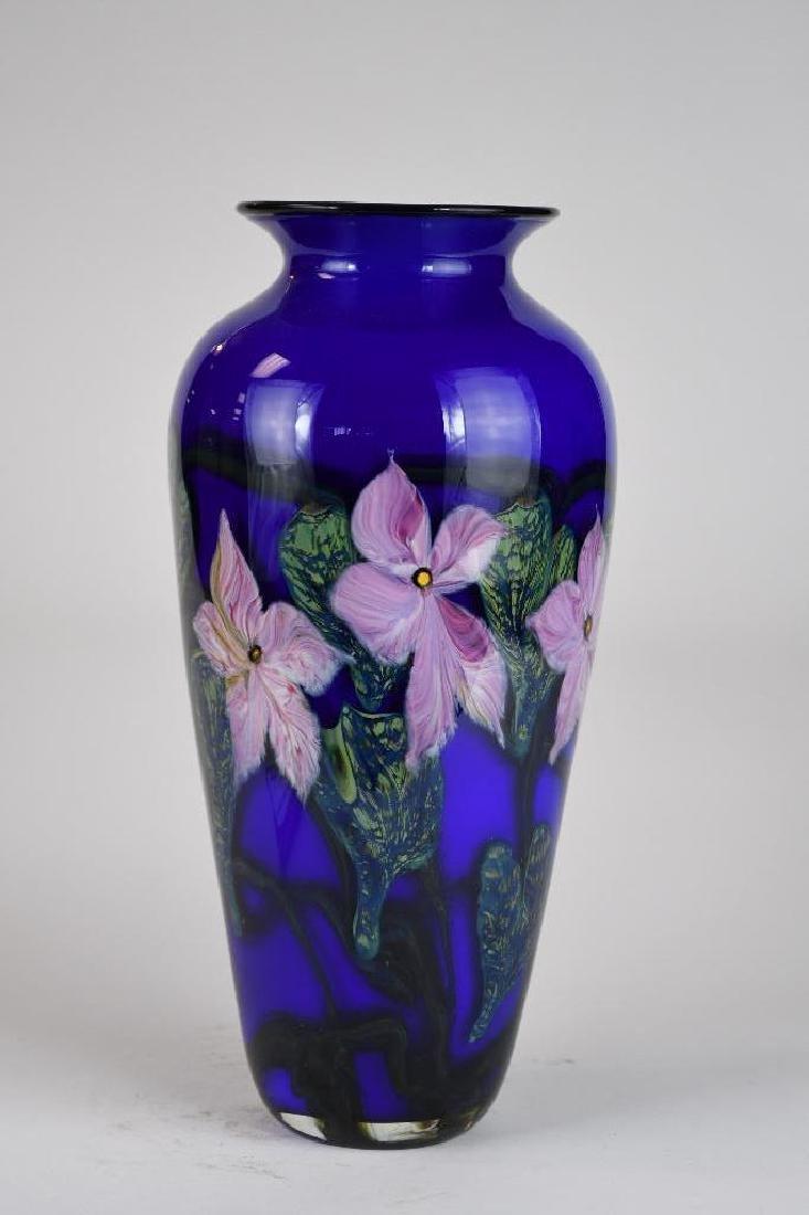 Signed Art Glass Vase - 2
