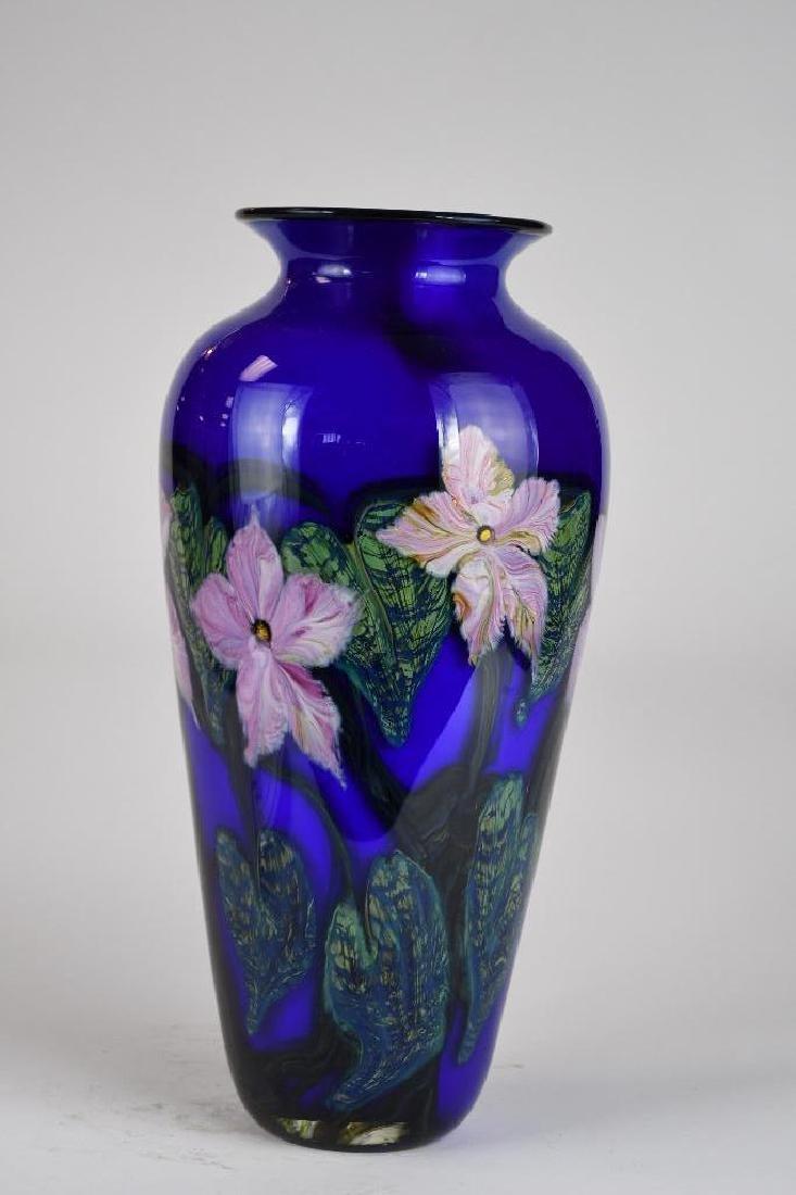 Signed Art Glass Vase - 3