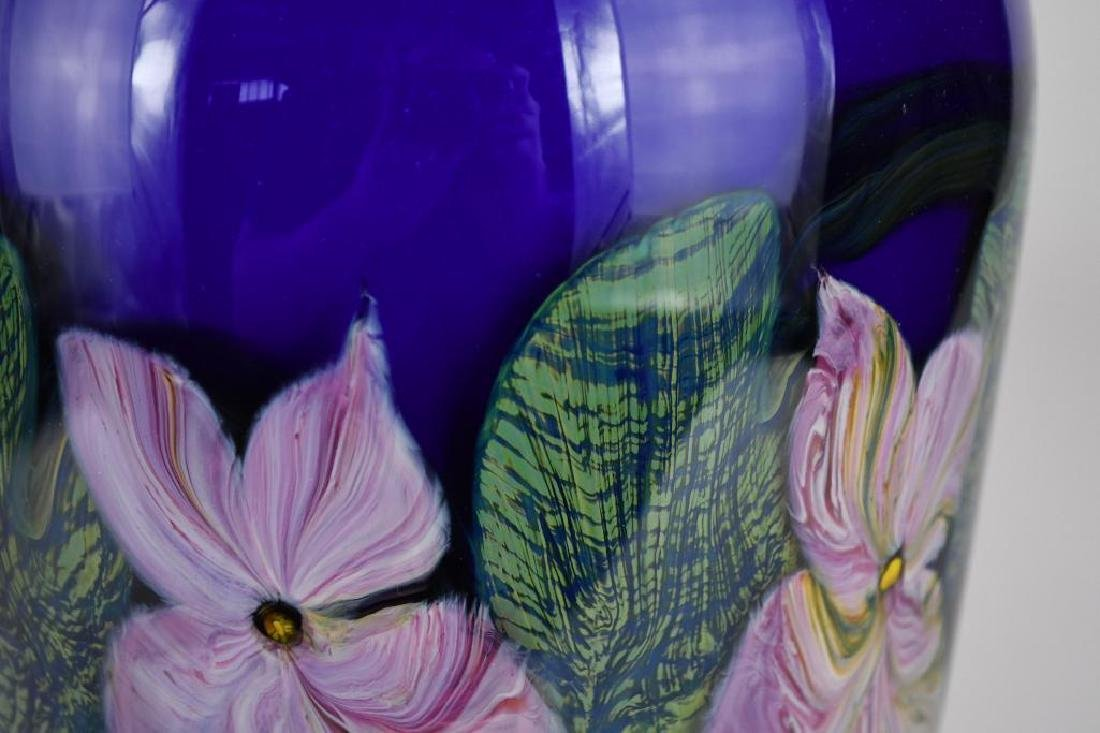 Signed Art Glass Vase - 6