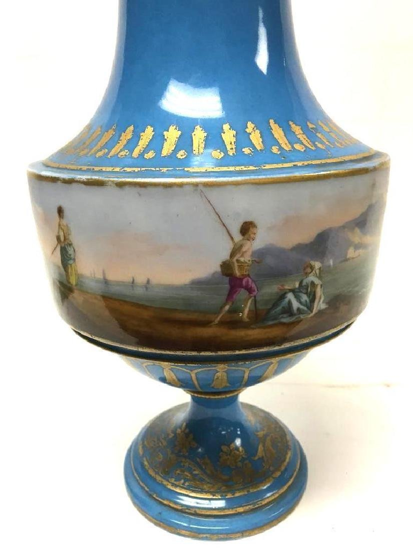 Antique Sevres Porcelain Lidded Vase - 3