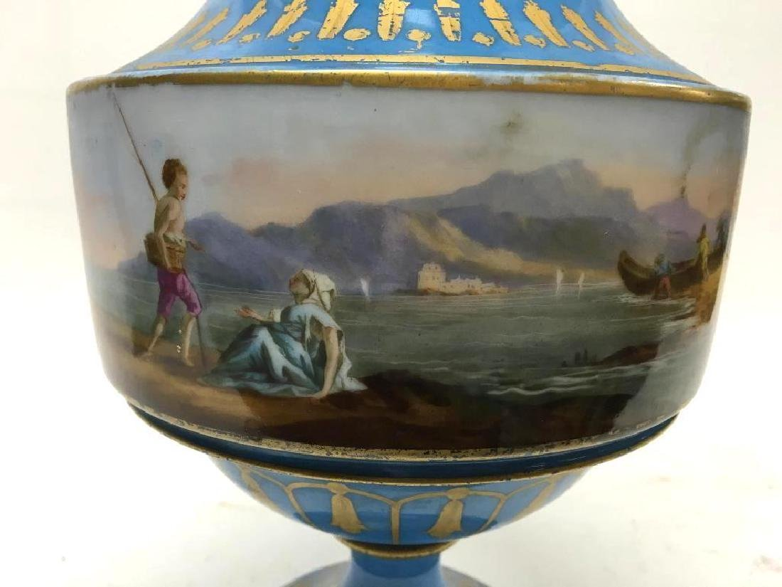 Antique Sevres Porcelain Lidded Vase - 8