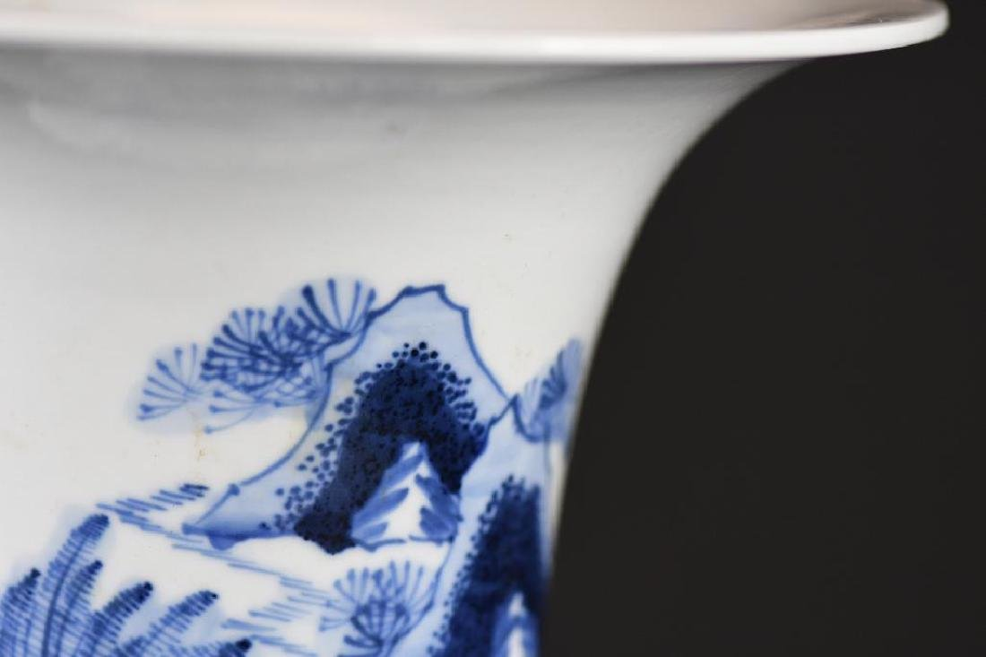 Chinese Blue & White Porcelain Vase - 7