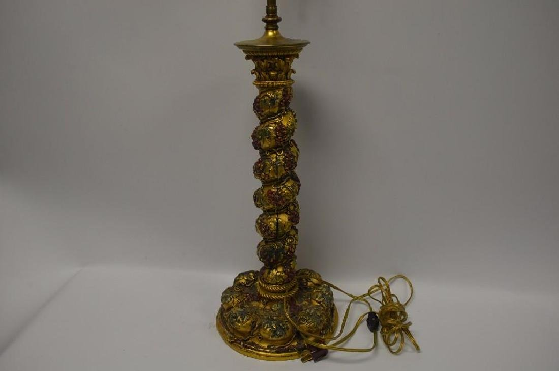 Polychrome & Gilt Bronze Table Lamp - 10