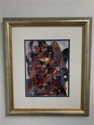 Framed Abstract Painting of Women