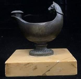 Bronze Oil Lamp