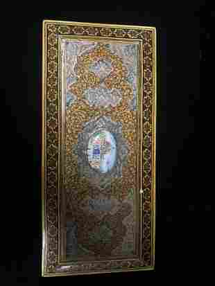 Middle Eastern inlaid and silver Detailed Box