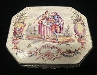 Small Hand Painted Porcelain Box