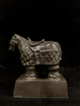 Bronze Statue of a Horse signed Botero