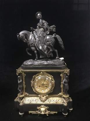 Antique 19th C. Gilt Bronze French Mantel Clock