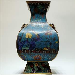 A Rare Cloisonne Flower and Birds Vase.