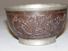 7: Antique Coconut Bowl