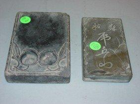 10: Two Antique Ink Stones