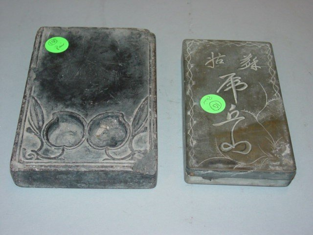10: Two Antique Ink Stones
