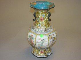 19: Enamel Vase