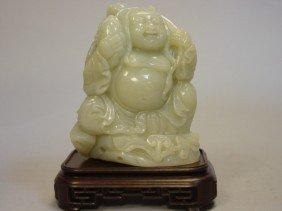 23: Celedon Jade Carving of Buddha & Boy