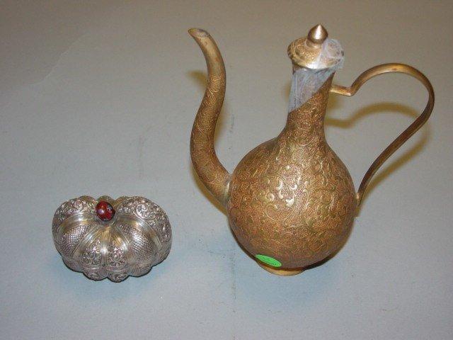 33: Silver Box & Bronze Ewer