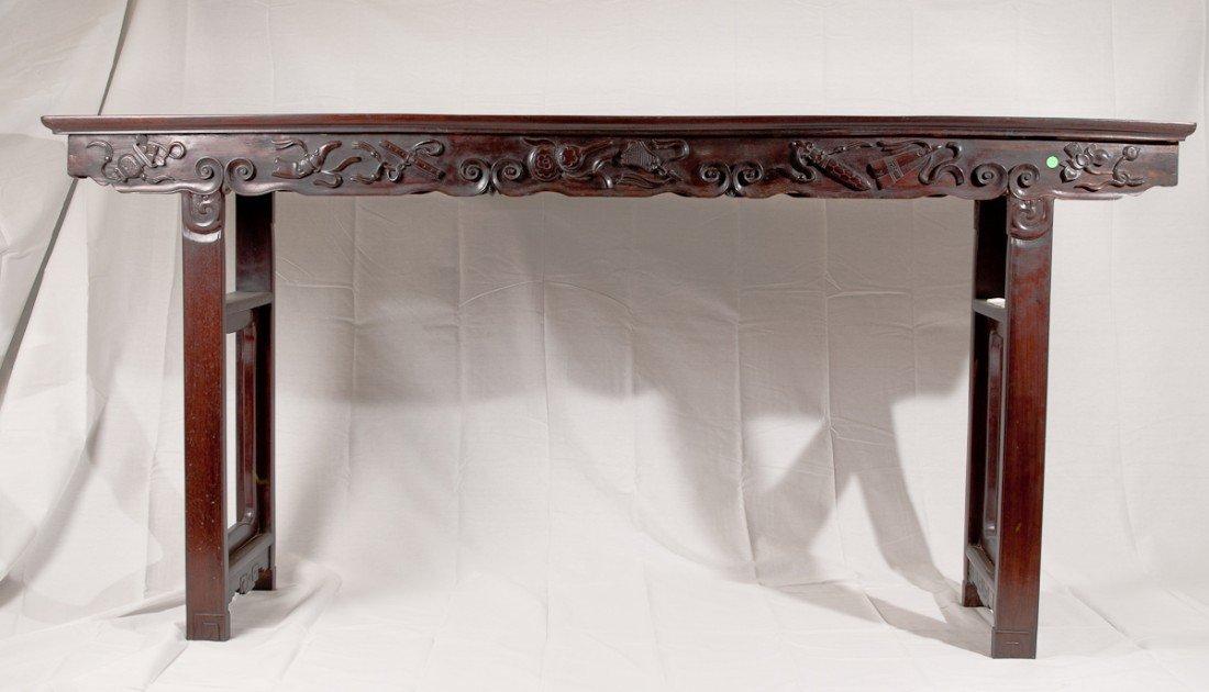 44: A Rare Large Zitan Altar Table