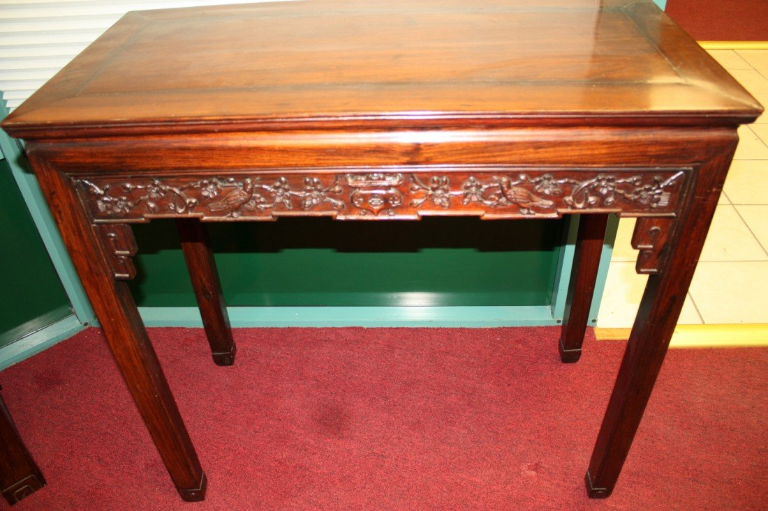45: Beautifully Carved Rosewood Console Table