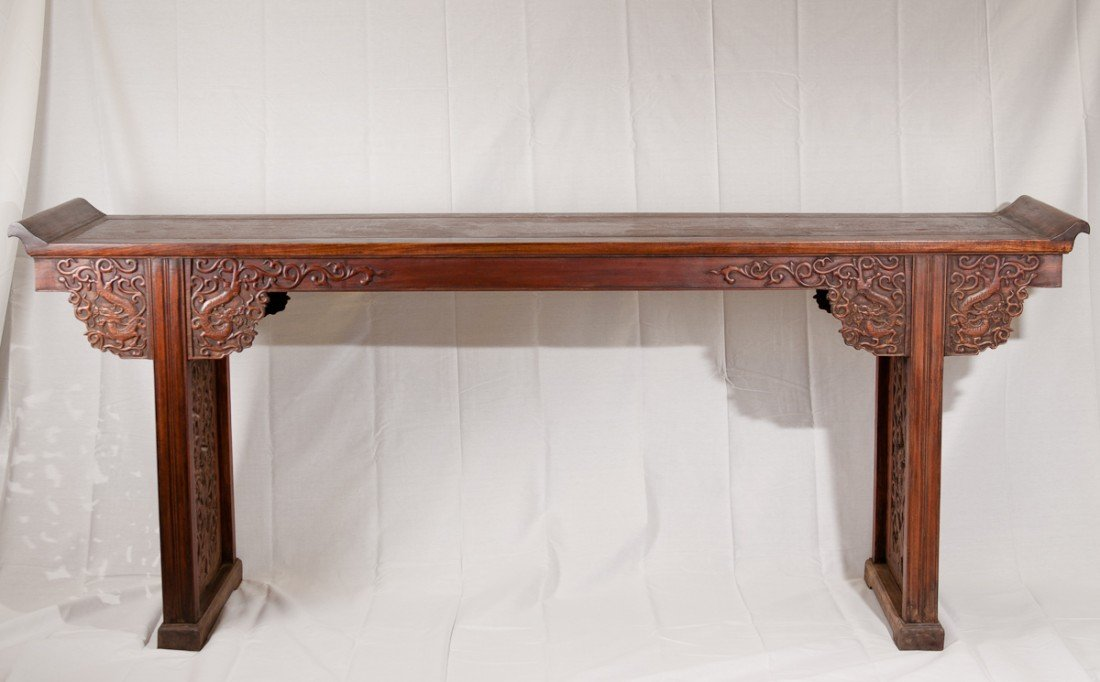 46: A Rare Large HuangHuaLi Altar Table