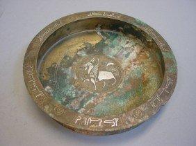 Islamic Silver Inlaid Bronze Dish