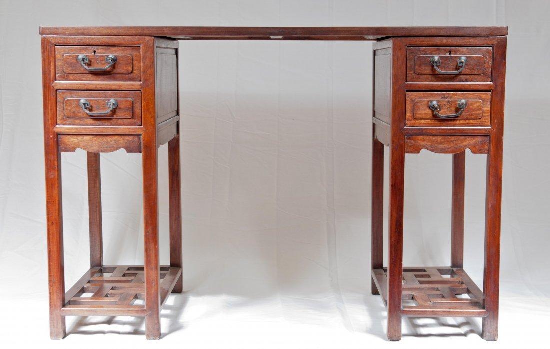 170: Antique Huanghauli Partners Desk  19th. Century