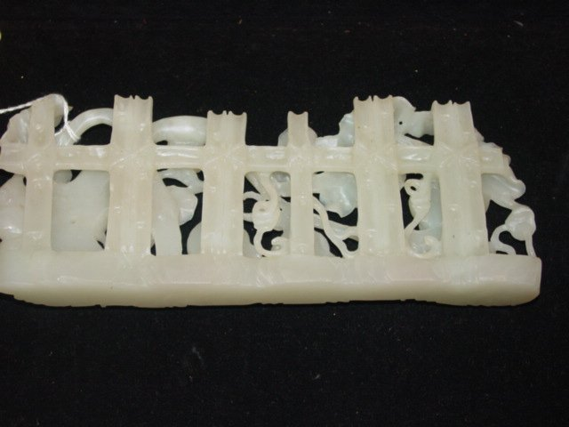 110A: Extremely Fine White Imperial Carved Jade - 10