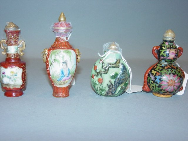 6A: Chinese Collection of Nine Snuff Bottles