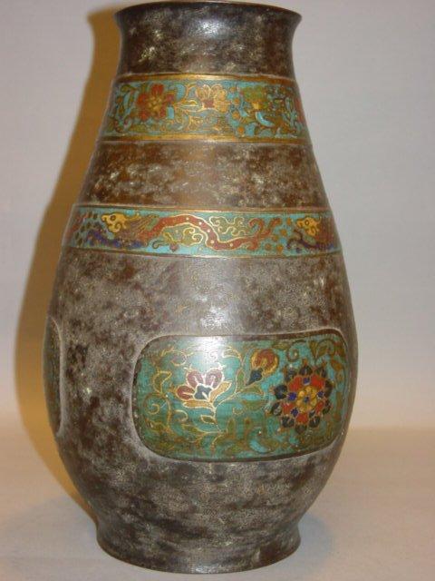 6B: Antique Cloisonne Bronze Jar
