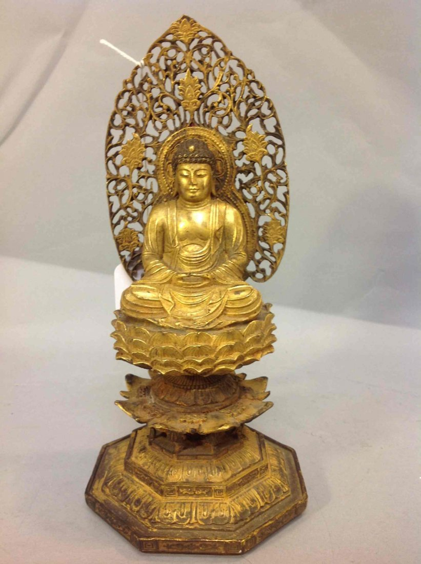 3: Antique Chinese Guilt Bronze Buddha