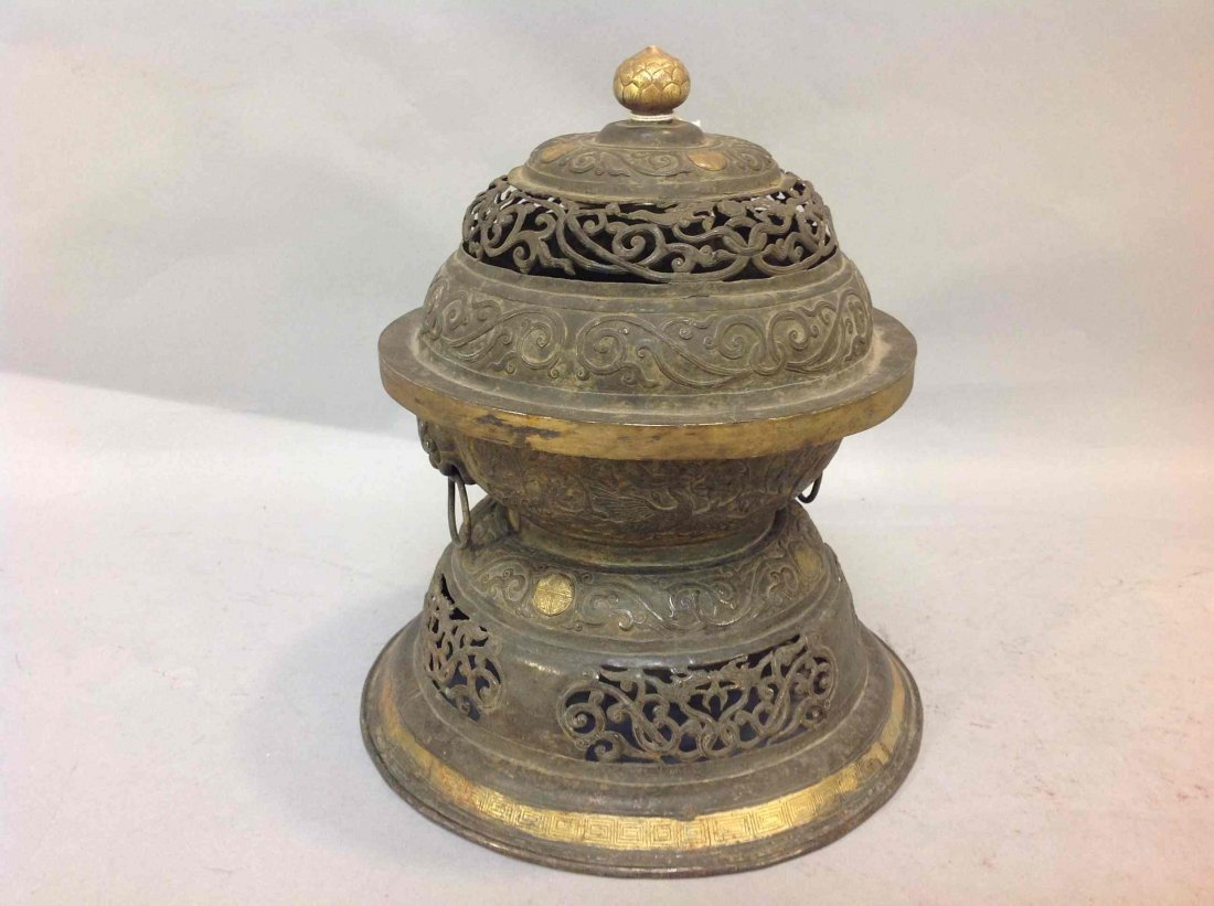 5: Antique Chinese Silver Incense Burner