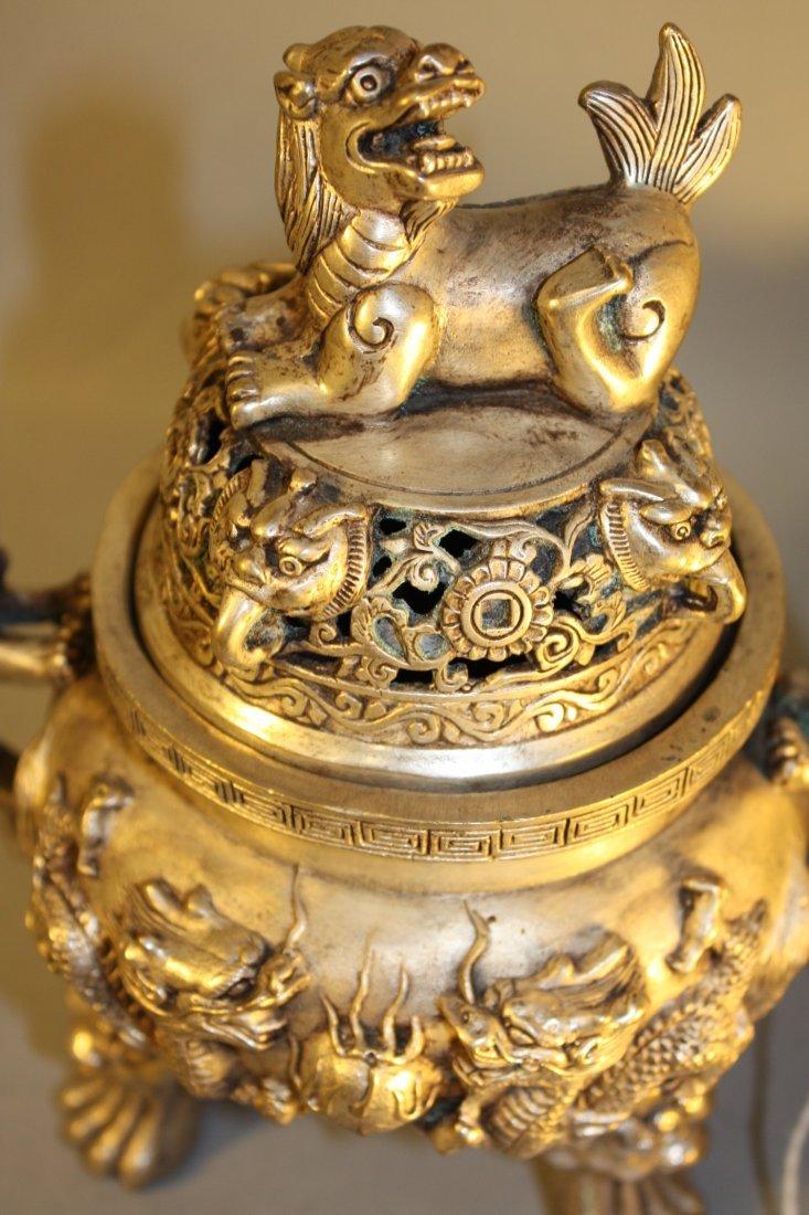 198: Bronze Rui Scepter and Lidded Bronze Censor - 8