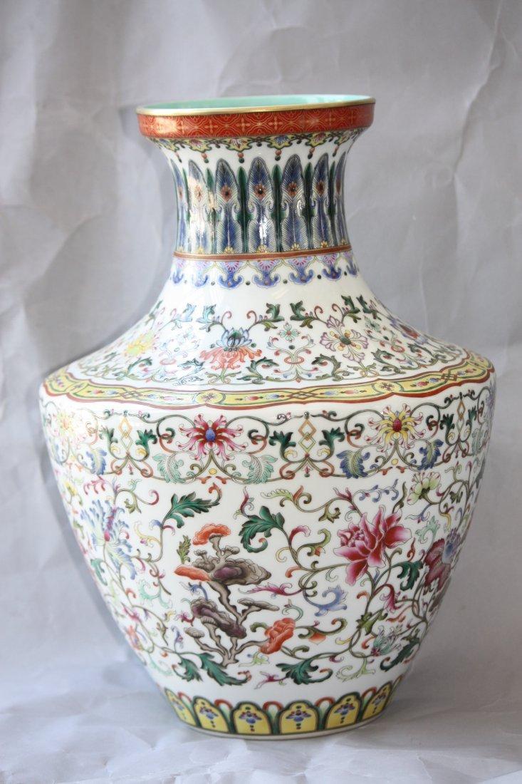 1: Chinese Famille Rose Porcelain Vase