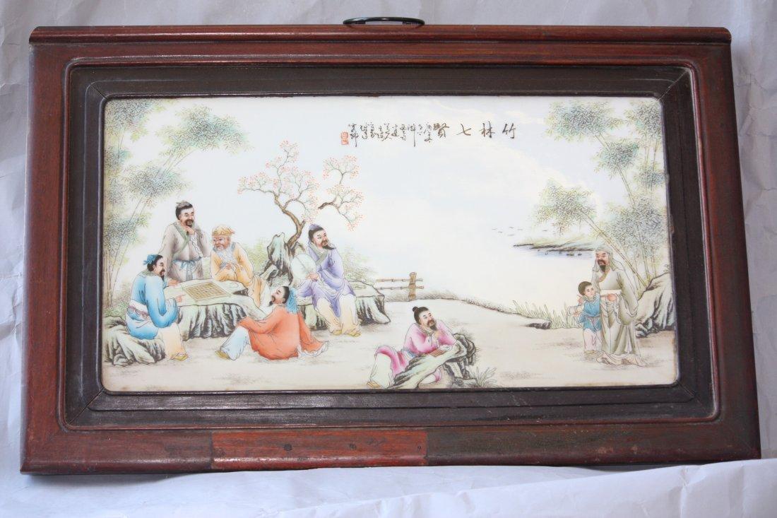 7: Porcelain Painting Plaque